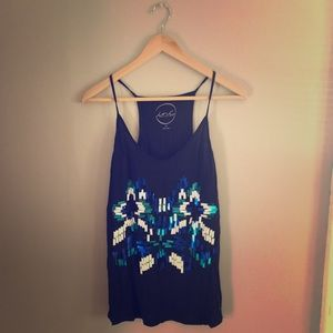 INC tribal sequin tank top